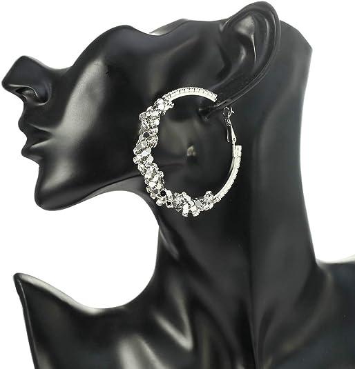 Aokarry Bangle Bracelet-Gold Plated Womens Charm Bracelet Bangle Cubic Zirconia Oval Stone Rose Gold