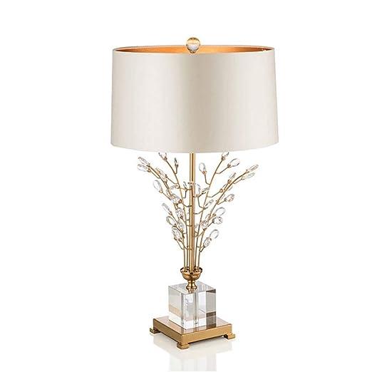JXXU Lámpara de Mesa Vintage Lámpara de Mesa de Cristal, lámparas ...