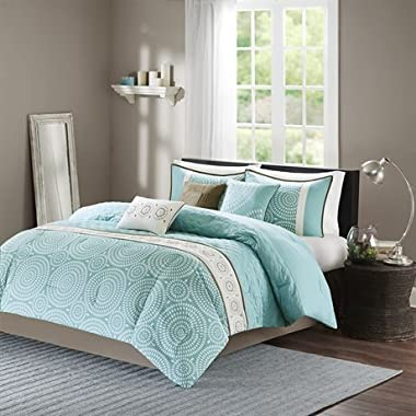 Madison Park Phoebe 7 Piece Comforter Set Teal King