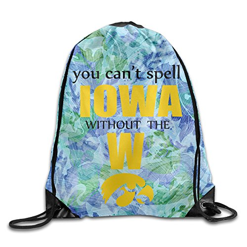 [PKTWO Cinch Pack University Of Iowa You Can't Spell Travel Drawstring Bag] (Iowa Hawkeye Mascot Costume)