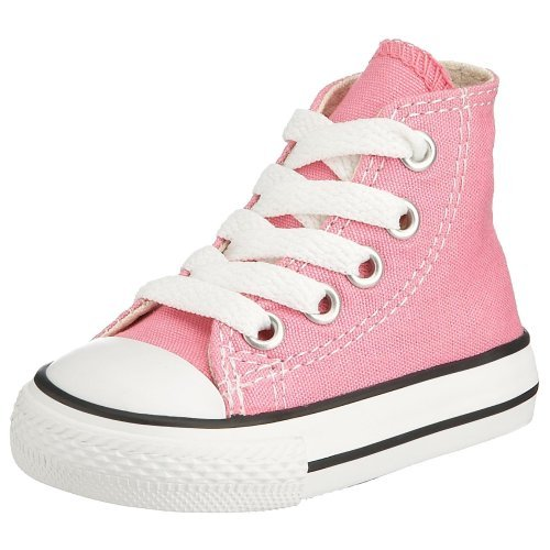 Converse Baby Girls' Infant Chuck Taylor All Star Hi Top - Pink - 4 Infant - Baby High Top Shoes Pink