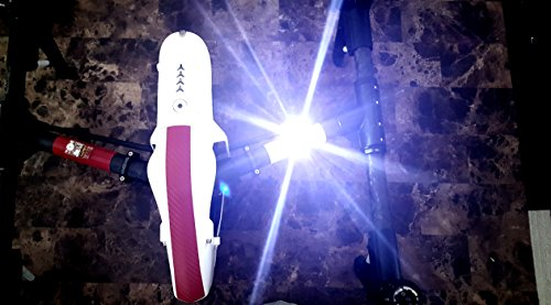 High Intensity RED Cree LED Strobe Light for Drones FAA 107 Compliant for Night Flights Fits All Multirotor Quadcopter DJI Inspire Phantom Mavic RC Aircraft YuneecTyphoon H Q500