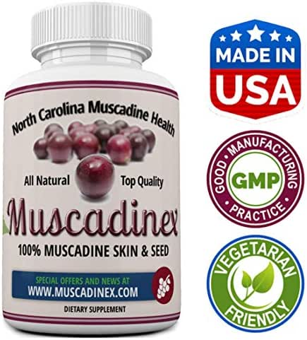 Longevity - Muscadinex MX1. Grape Resveratrol, Ellaigic Acid, Querectin. 60x 650Mg Vegetarian Capsules. The Muscadine is America's Strongest Grape for Polyphenols. Top Quality, Made in The USA.