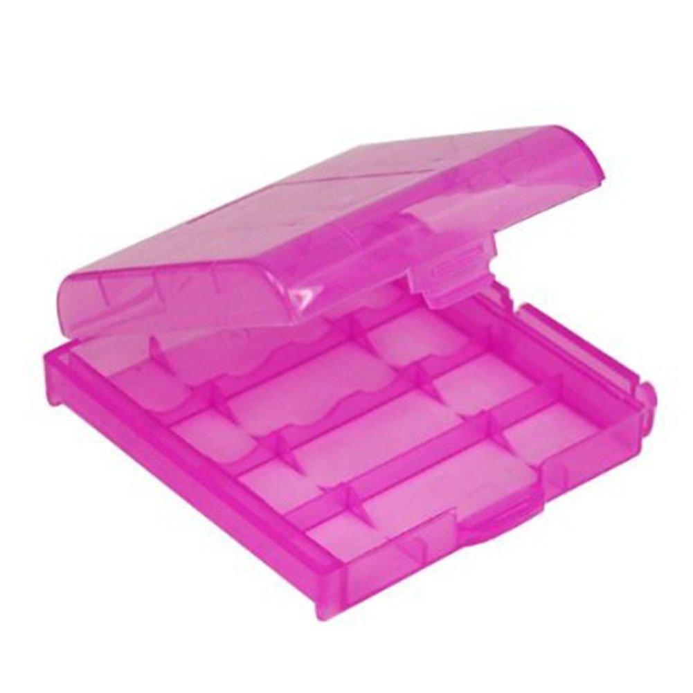 Oyfel Plastique Etui Boitiers Stockage Boite De Rangement Accus 4 AA/AAA Pile Batterie Couleur aléatoire 5 Pcs