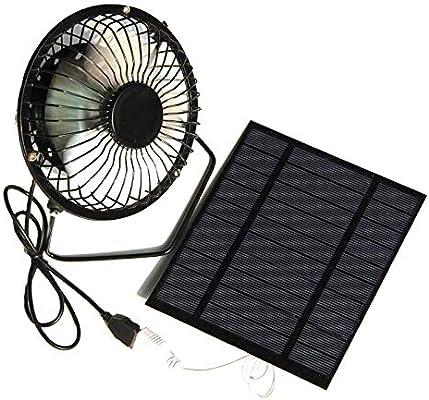 Andifany 2.5W 5V Panel de Energía Solar Ventilador de Hierro para ...