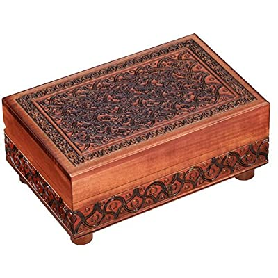 Secret PUZZLE BOX, Handmade Wood Keepsake Jewelry Treasure Collector Box, Unique Masterpiece, Made in Poland: Home & Kitchen