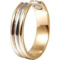 Magnetic Copper Ring for Men or Women with 2pcs Strong Magnets Tri Tone Adjustable