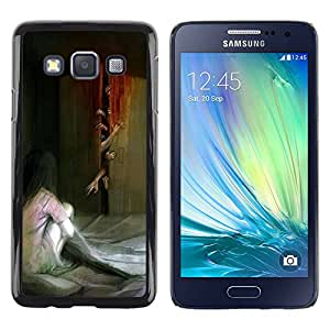 Paccase / SLIM PC / Aliminium Casa Carcasa Funda Case Cover - Monster Zombie Scary Painting - Samsung Galaxy A3 SM-A300