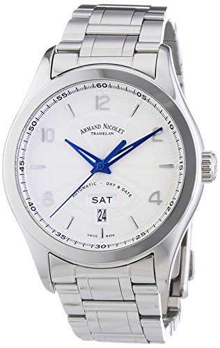 Armand Nicolet Men's 9740A-AG-M9740 M02 Analog Display Swiss Automatic Silver Watch