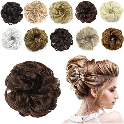 HAIRREAL Hair Bun Extensions Messy Hair Scrunchies Donut Chignons Hairpiece Scrunchy Updo Hair Pieces ()