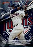 2016 Bowman's Best #15 Miguel Sano Minnesota Twins Baseball Card in Protective Screwdown Display Case