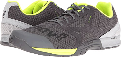 Cheap Inov-8 Men's F-LITE 250 Cross-Trainer Shoe, Grey/Neon Yellow, 8.5 E US