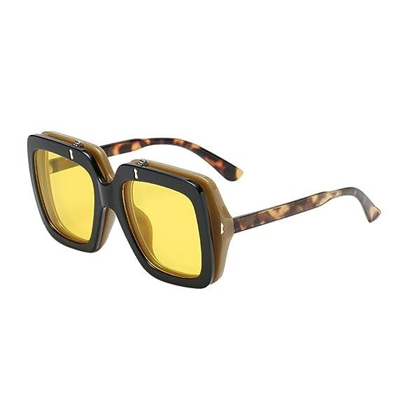 Keepwin Gafas de Sol Polarizadas Peso Ligero Vintage Gradiente Anteojos Mujer Hombre (Amarillo): Amazon.es: Ropa y accesorios