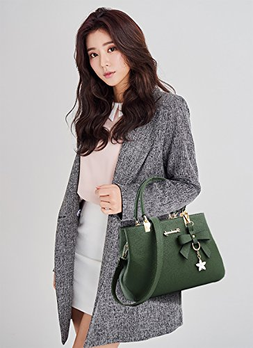 Leather Waterproof Shoulder Bowknot Crossbody Green PU Brown Bag Nicole Handbag Women amp;Doris Og1wU1