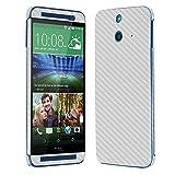 Skinomi TechSkin - HTC One E8 Screen Protector + Silver Carbon Fiber Full Body Skin Protector / Front & Back Premium HD Clear Film / Ultra Invisible & Anti-Bubble Shield