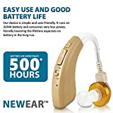 Digital Hearing Amplifier - Personal Hearing Enhancement Sound Amplifier with Extended Over 500hr Battery Life, by NewEar