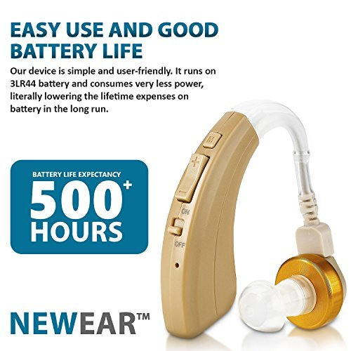 Digital Hearing Amplifier - Personal Hearing Enhancement Sound Amplifier with Extended Over 500hr Battery Life, by MEDca