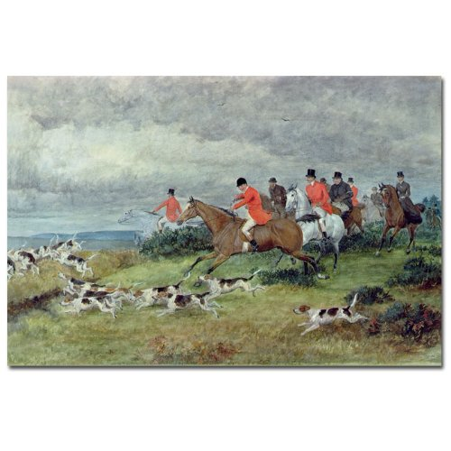 Fox Hunting in Surrey by Randolph Caldecott, 22x32-Inch Canvas Wall ()
