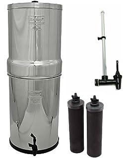 Crown Berkey Water Filter- 2 Black Berkey Filters and Water View Spigot