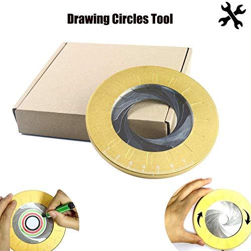 Circle Drawing Tool,Adjustable Flexible Rotary Aluminum Alloy Drawing Circles Geometric Tool,Circle Template Ruler for Drafting