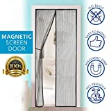 Magnetic Screen Door - Self Sealing, Heavy Duty, Hands Free Mesh Partition Keeps Bugs Out - Pet and Kid Friendly - Patent Pending Keep Open Feature - 38'' x 83'' - by Augo