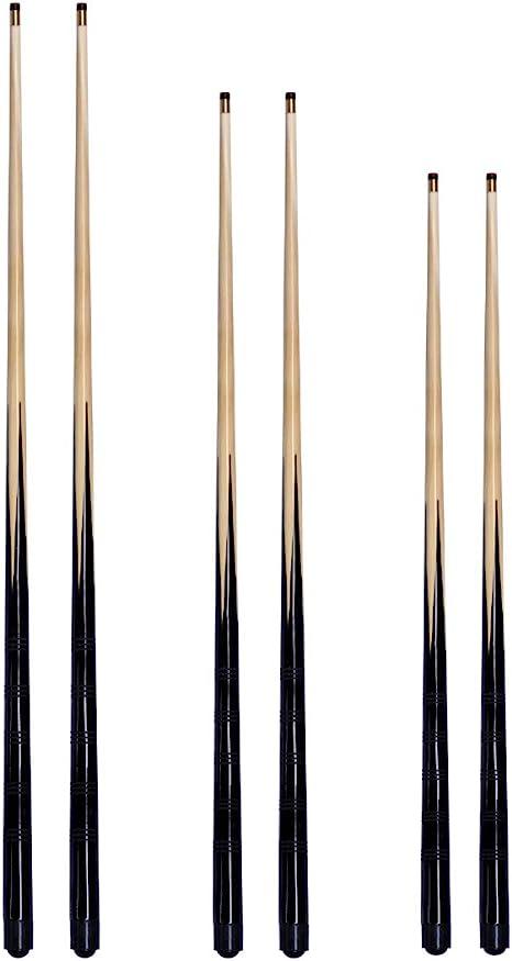 Conjunto de 6 tacos de billar: 2 de 92 cm, 2 de 106 cm y 2 de 122 ...