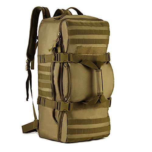 BAIGIO Tactical Multi-Functional Travel Duffle Bag Camping Backpack Outdoor Luggage Military Duffel Assault Pack