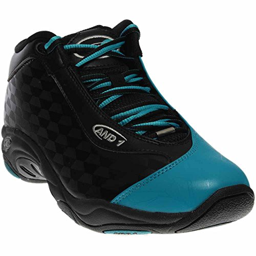 AND1 Men's Tai Chi Mid Sneaker,Black/Capri Breeze,US 7.5 M