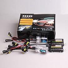 35W HID Xenon Headlight Conversion KIT Bulbs With 2 Slim Ballasts H7 H8/H9/H11 9006 H4-3SS Bi-Xenon Hi/Lo 6000k 8000k (9006, 6000K)