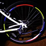 HuaYang MTB Road Bike Bicycle Cycling Wheel Rim Light Reflective Stickers Decal(Pack of 1: Blue)