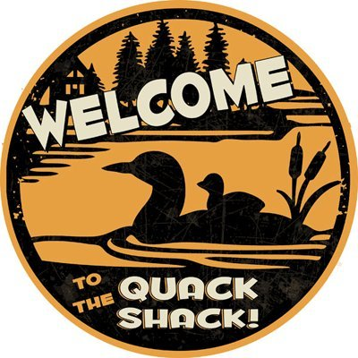 Quack Shack Metal Sign, Cabin Decor, Ducks, Lake, Humor, Home Decor, Wall Accent, Relax