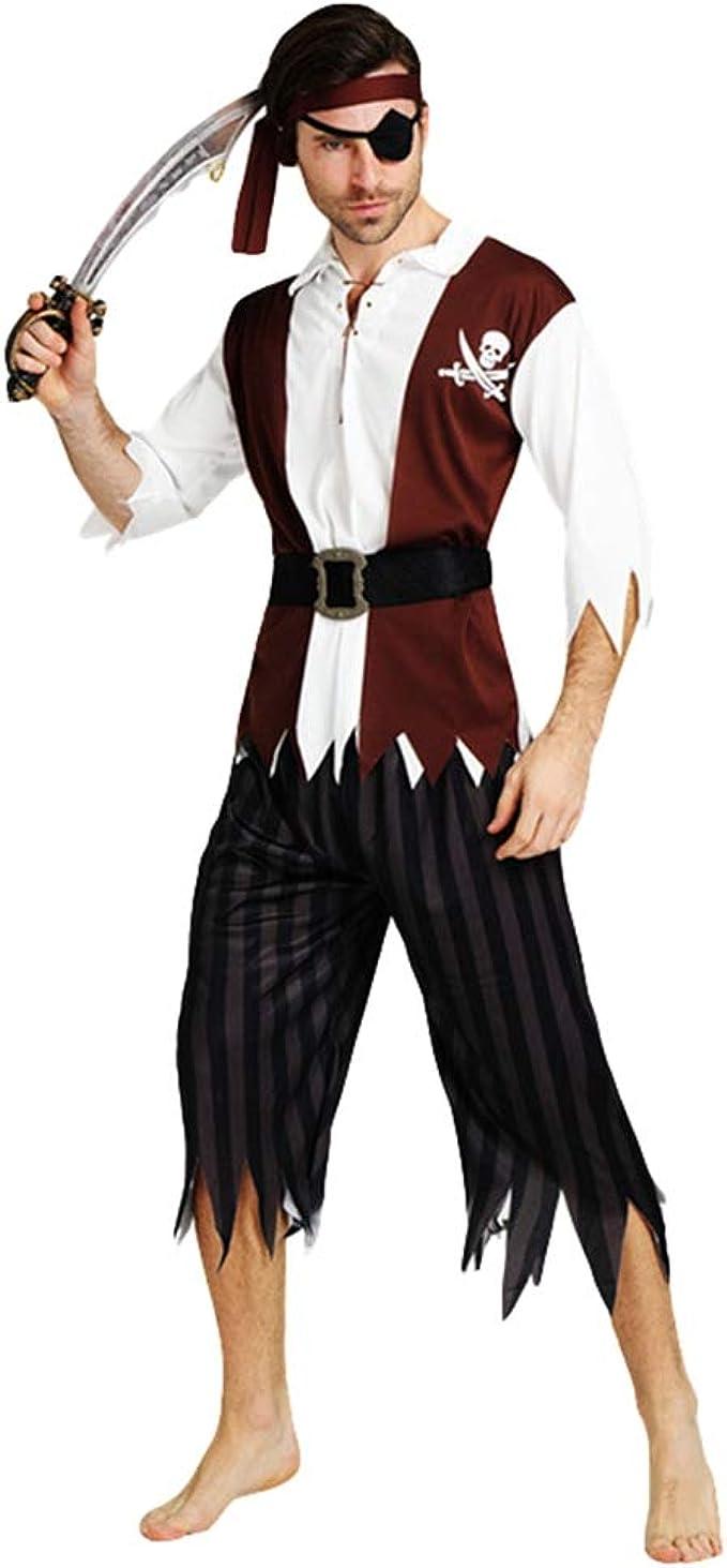 Jitong Disfraces Pareja de Halloween, Trajes Piratas para Adultos ...