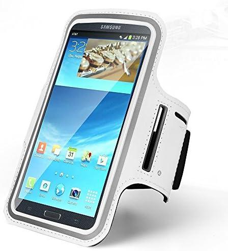 [해외]Exerise Gym Sport Running Phone Armband Case Cover Key Holder Compatible iPhone Xs Max  8 PlusGalaxy Note 9  S9 Plus  S8 PlusLG Stylo 4  V40 ThinQMoto E5 PlayZenFone AR  5Q (White) / Exerise Gym Sport Running Phone Armband Case Cov...