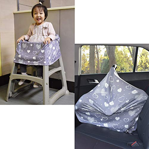 Nursing Breastfeeding Cover - Multi use Baby Car seat Cover for Girls and Boys
