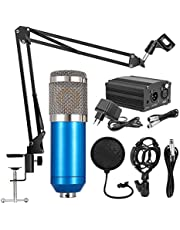 BM800 Professional Suspension Microphone Mobile Phone Broadcasting Recording Condenser Microphone Set with 48V Power Supply Appliance