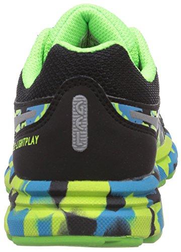 asics Gel-Lightplay Gs - Zapatillas para deportes de exterior de sintético para niño Black/Onyx/Silver 9099