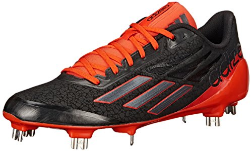 Adidas Performance Mens Adizero Afterburner Da Baseball Nero / Carbonio Metallizzato / Arancio Collegiato