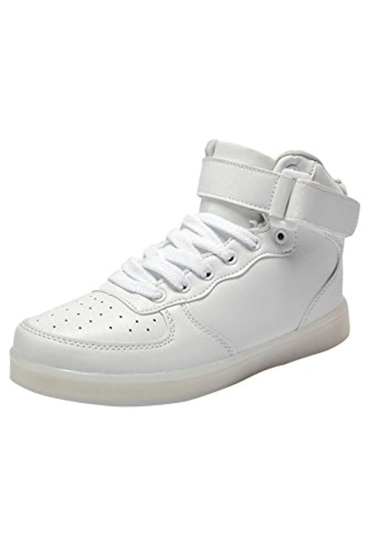 [Presente:peque?a toalla]Negro EU 35, Moda LED Zapatos TopAlto Mujer JUNGLEST?