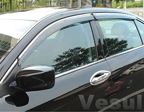 Vesul Side Window Visor Vent Rain Guard Shield Wind Deflectors Sun Shade Compatible with Honda Accord 2018 2019 from Vesul