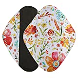 Women Sanitary Towel Pad TOOPOOT Reusable Bamboo Cloth Washable Menstrual Pad (L, Multicolor)