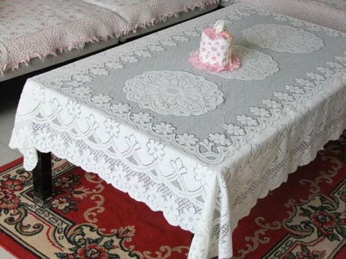 amazing-trading(TM) Tablecloth Rectangle Table Cover Embroidery Luxury