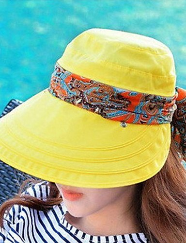 Hat Anti Hood Sun support GSM Outdoor Women Summer ONESIZE Folded Beach Masking Visas ultraviolet Climbing Caps Empty UxF8xZ