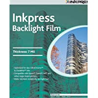 Inkpress IBF851150 Specialty Media Backlight Film 7 Mil 8.5in. X 11in. 50 Sheets