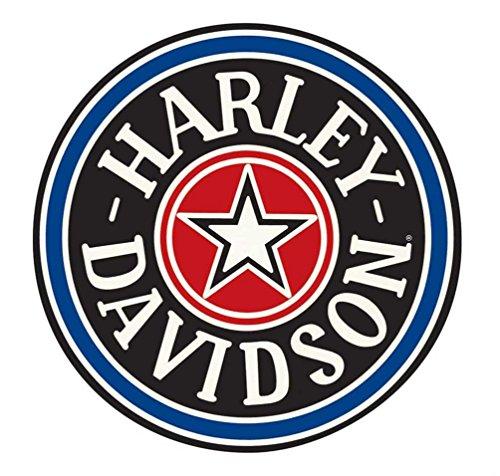 Harley-Davidson Fat Boy Gas Cap Round Tin Sign 14 Inch Blue & Black - Davidson Harley Boy Fat