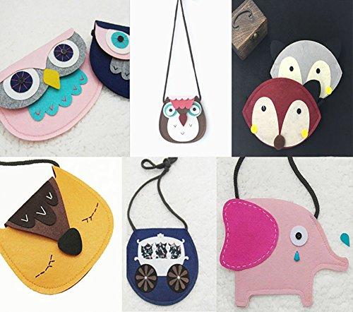 Cdet Münzbörsen Brieftasche für Kinder Süße Tiere Weben Lagerung Paket Geldbörse Mobiltelefon Tasche Es tragen Mini Kosmetiktasche Aufbewahrungs Tasche size S (Style 1)