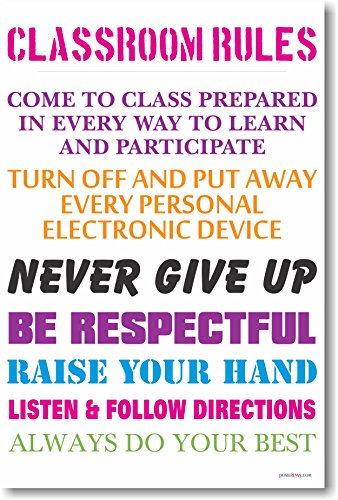 Classroom Rules #13 - NEW Classroom Management Poster