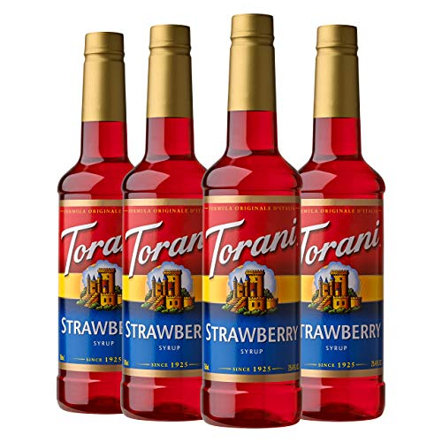 Torani Syrup, Strawberry, 25.4 Ounce (Pack of 4)