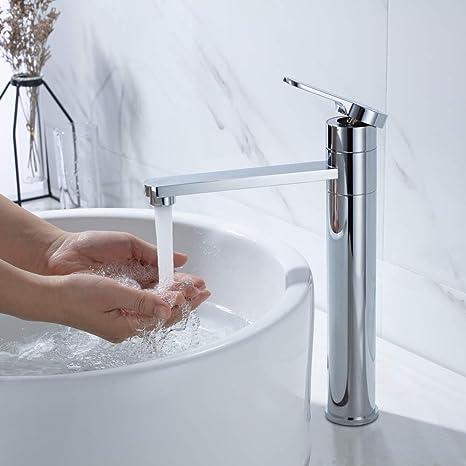 Waschbecken Amazon.Umi By Amazon Hoch Wasserhahn Waschbecken Armatur Bad Einhebelmischer Badarmatur Waschtisch Mischbatterie Waschbeckenarmatur