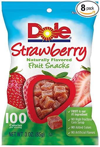 Dole Fruit Snacks, Strawberry, 3 Ounce (Pack of 8)