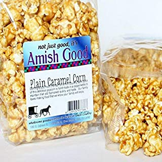 Amish Good Premium Caramel Popcorn Real Butter and Coconut Oil * 2 Pack has Two 10 Ounce Bags